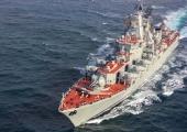 Визит российского ракетного крейсера Северного флота «Маршал Устинов» в порт Пирей