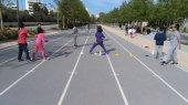 Легкоатлетические игры для детей в парке Центра культуры Фонда Ставроса Ниархоса в Афинах